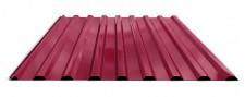 Профнастил МП-20 для крыши окрашенный RAL 3005 Красное вино